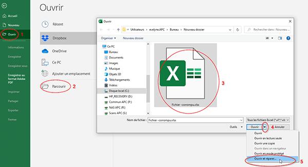 Fichier Excel corrompu Informatique Manosque part 1